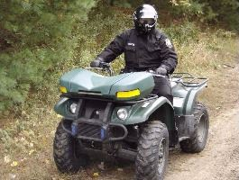 Officer Riding ATV