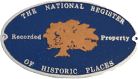 A plaque which reads The National Register of Historic Places